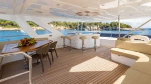 exterior upholstery, yacht cover exterior upholstery, luxury yacht upholstery