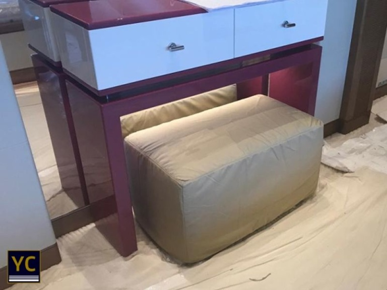 Luxury Yacht Pouf Cover, Yacht Pouf Cover, yacht interior covers