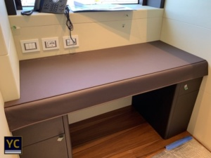 Leather Yacht Cover, yacht leather covers, yacht desk cover