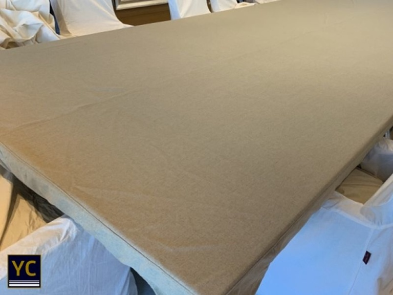 Luxury Yacht Table Covers, tacht covers, yacht interior cover