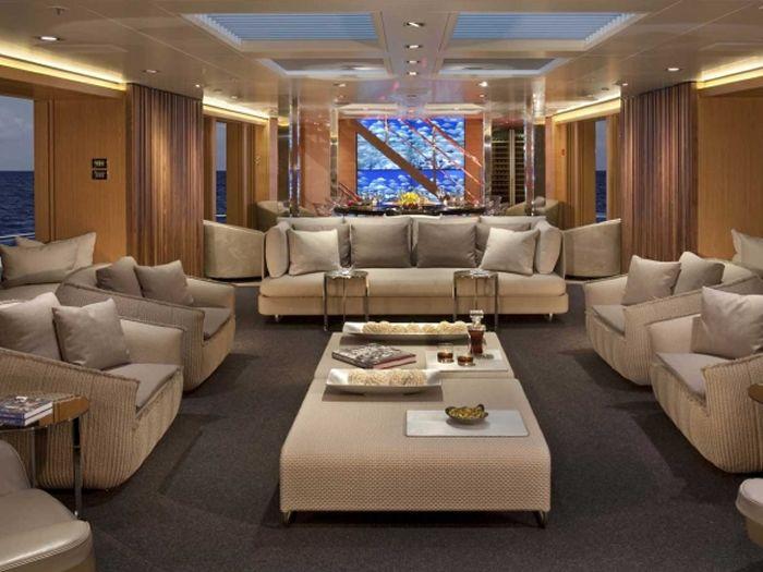 yacht interior, yacht interior upholstery, yacht sofa